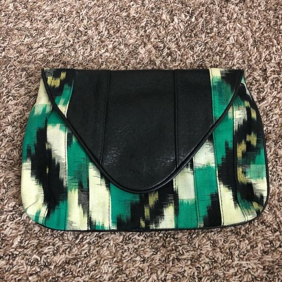 Handbags - Women's larger okay print clutch